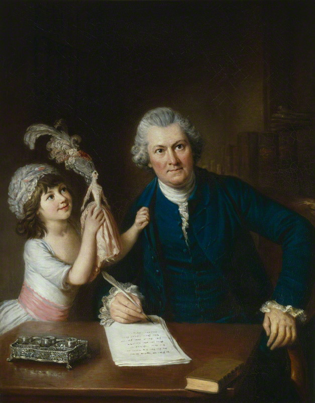 Christopher Anstey (1724-1805) with his daughter