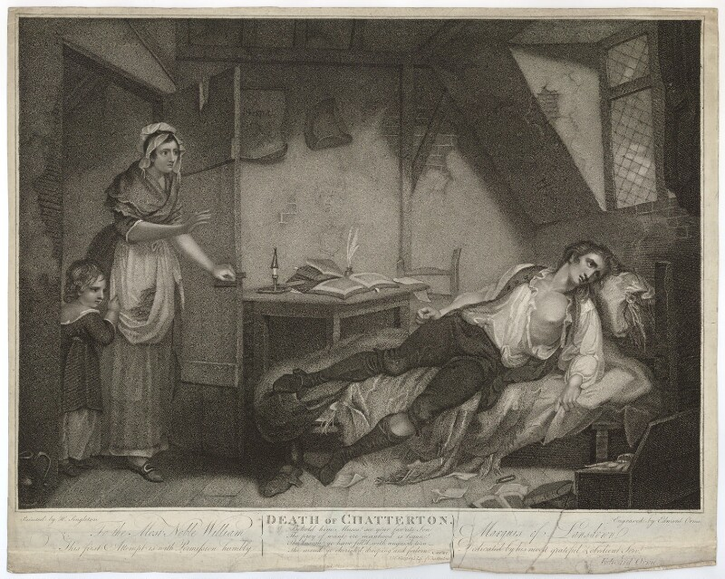"""Death of Chatterton"" (1794) by Edward Orme"