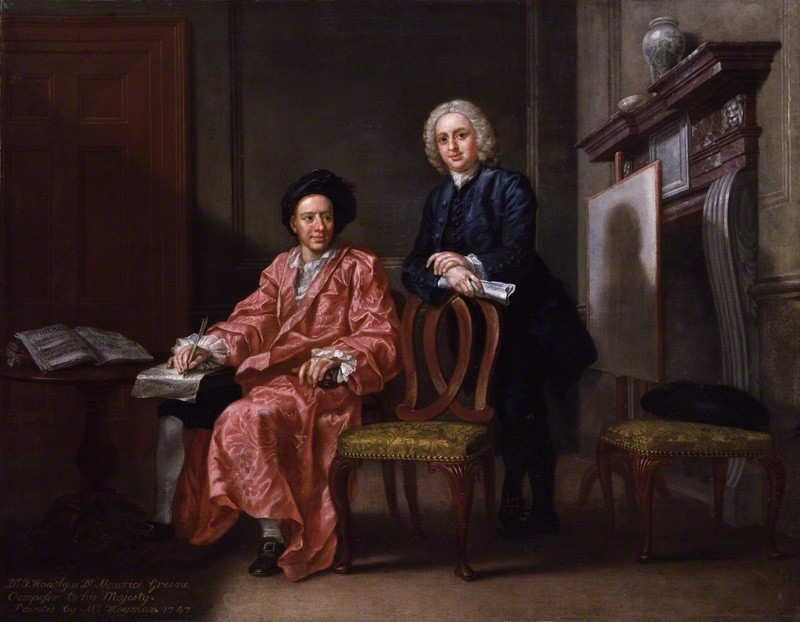 John Hoadly (1711-1776) (with Maurice Greene, seated)