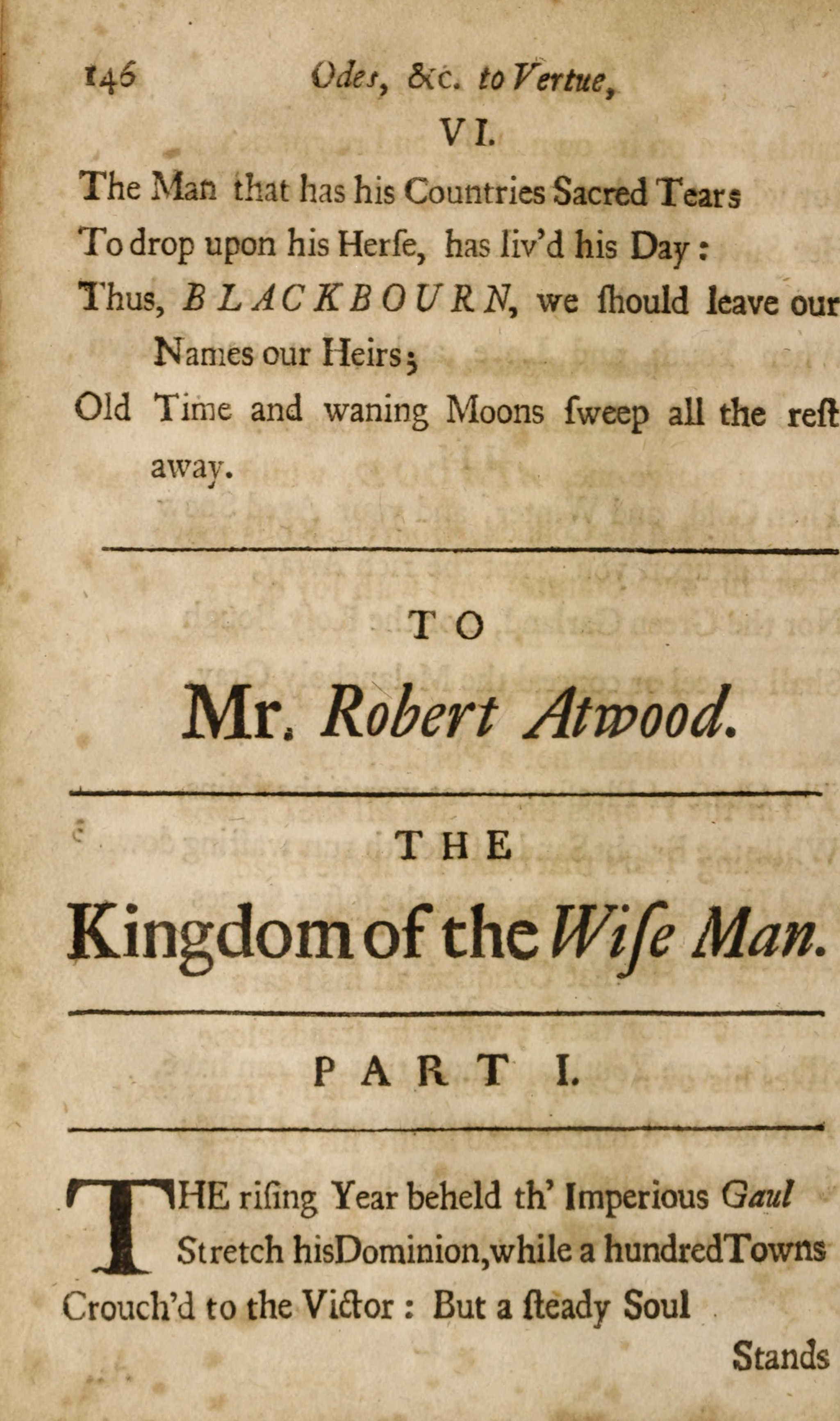 Eighteenth-Century Poetry Archive / Works / TO Mr  William