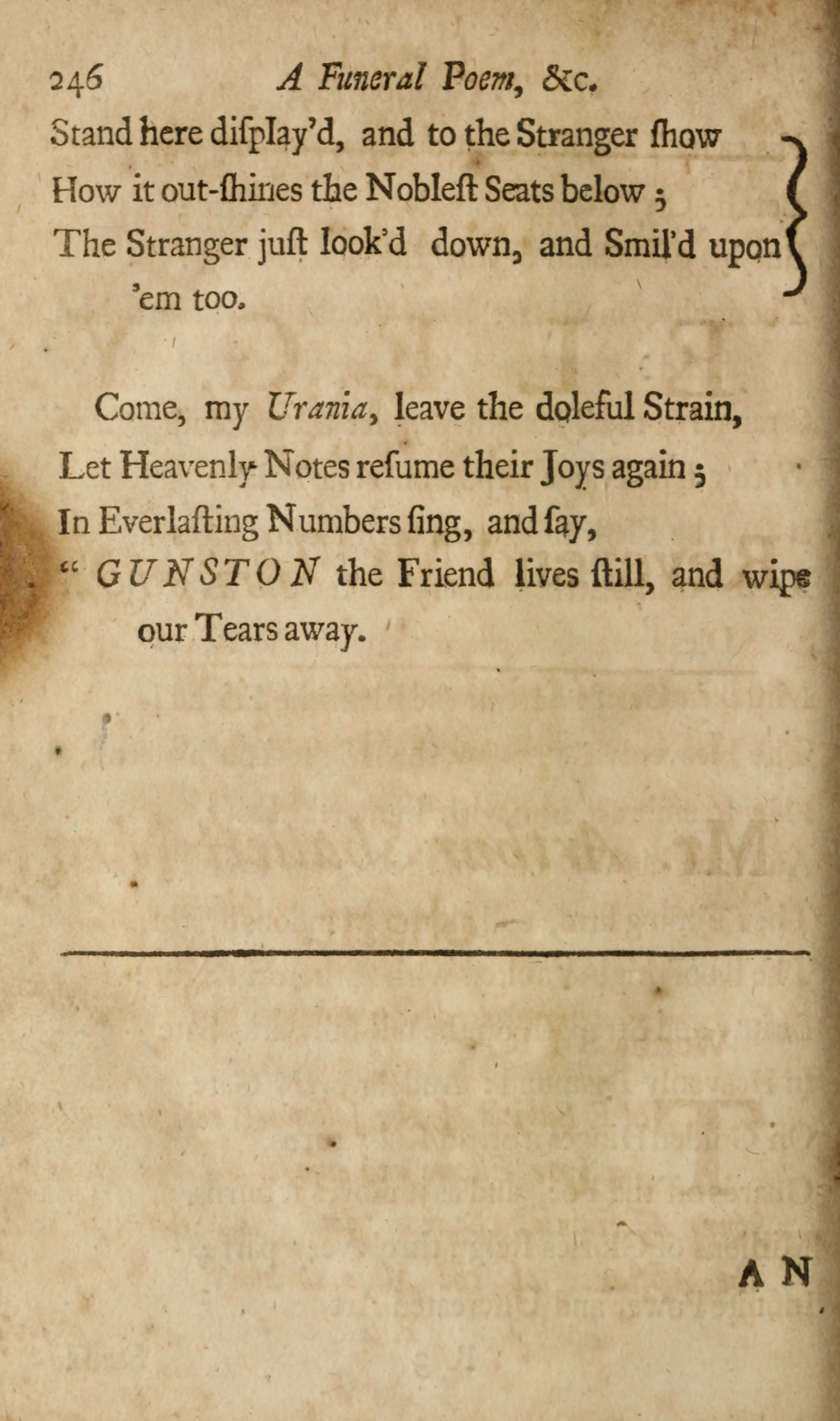 Eighteenth-Century Poetry Archive / Works / A Funeral POEM ON Thomas