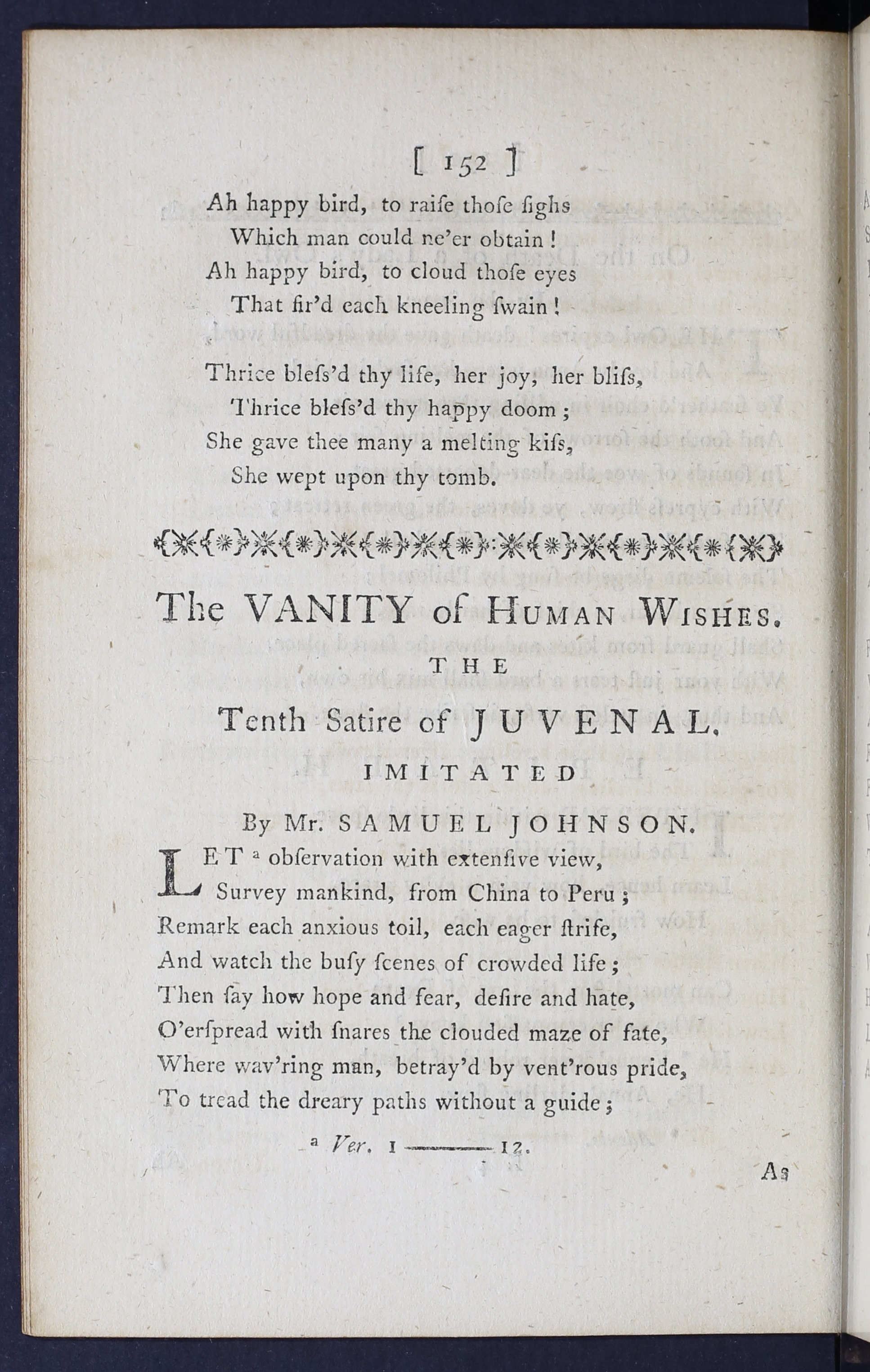 samuel johnson vanity of human wishes summary